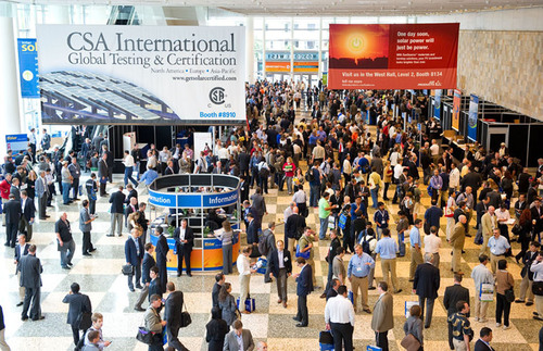 Solar Professionals Filled the Three Floors of Moscone West.  (PRNewsFoto/Intersolar North America)