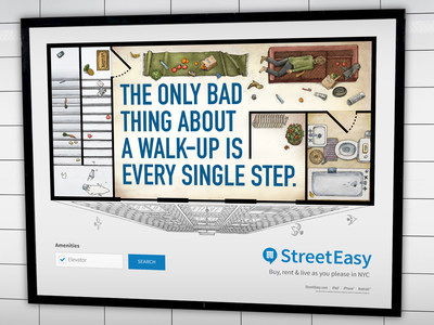"StreetEasy's first-ever advertising campaign, ""Live As You Please,"" depicts how challenging it can be to find a home in New York City."