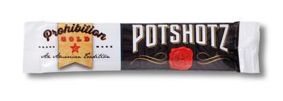 Prohibition Gold's Potshotz individual serving stick pack.