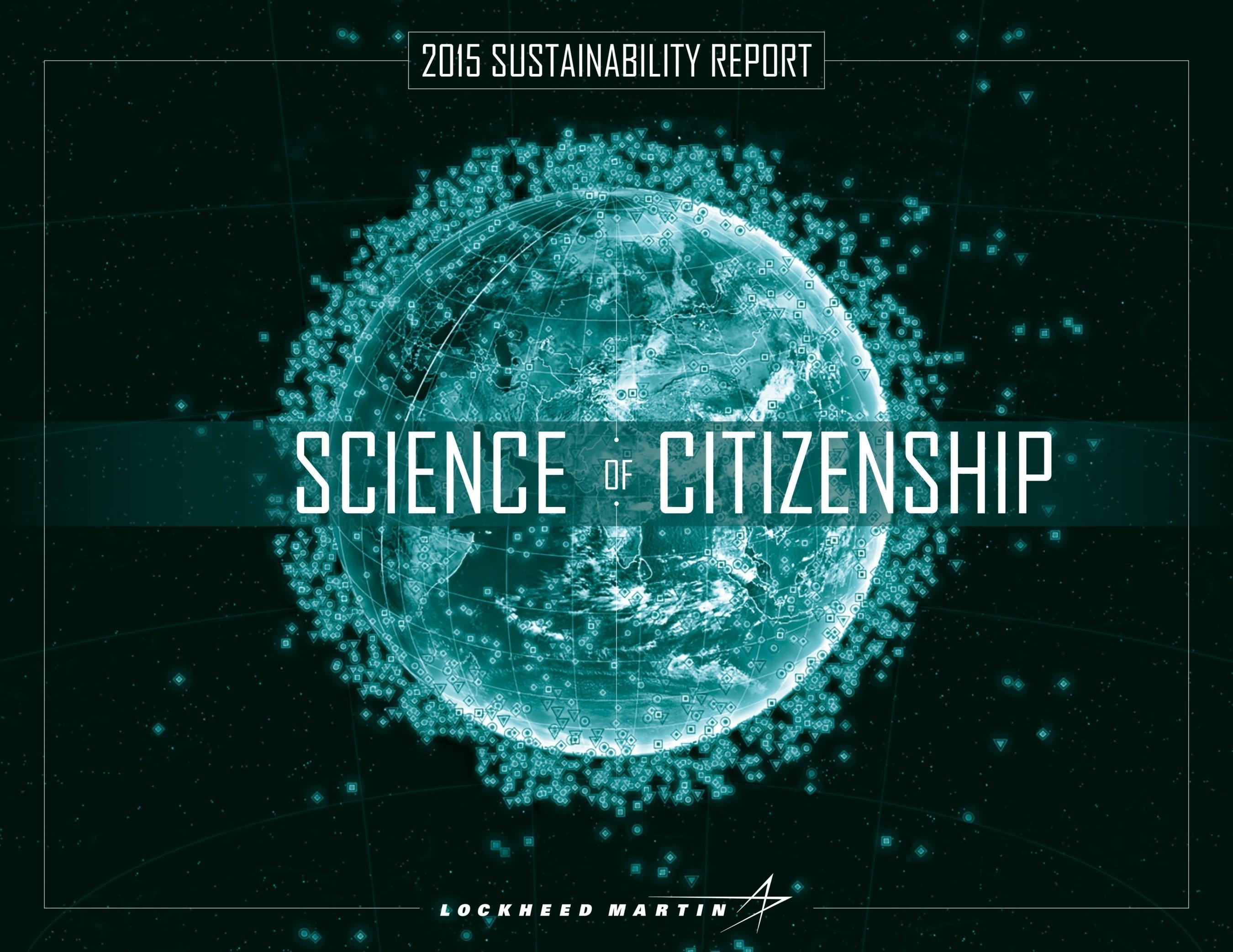 Lockheed Martin 2015 Sustainability Report 'Science of Citizenship'