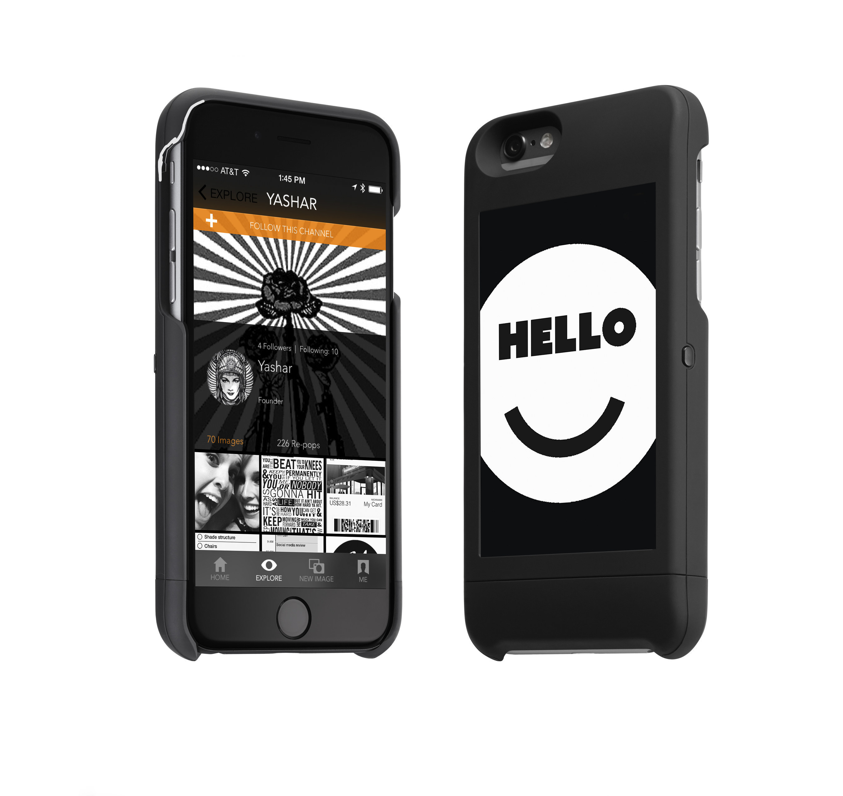 popSLATE introduces its always-on second-screen for the back of your phone. Enhance your smartphone experience! www.popslate.com