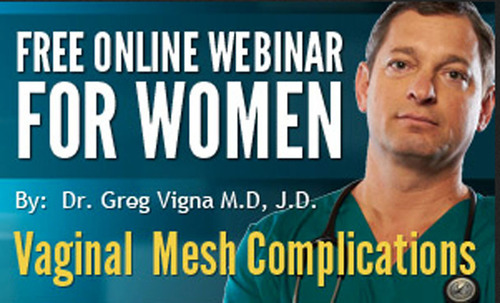 The Life Care Solutions Group is hosting a free transvaginal mesh webinar where attendees can have questions answered by a leading medical expert in the field.  (PRNewsFoto/Life Care Solutions Group)