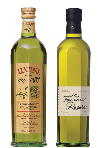 Lucini Premium Select Extra Virgin Olive Oil and Founders Reserve Premium Select Extra Virgin Olive Oil were honored with Gold Medals at the prestigious 2014 New York International Olive Oil Competition. (PRNewsFoto/Lucini Italia)