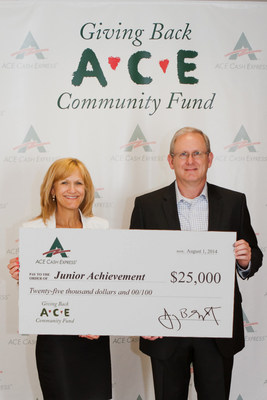 ACE presenting its donation to JA Dallas. (PRNewsFoto/ACE Cash Express, Inc.)
