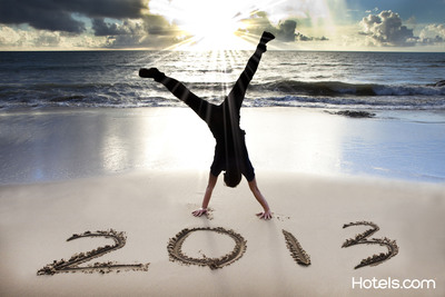 Whether it's turning obligations into obli-cations, seeking a special place to unplug or stepping out of a comfort zone, Hotels.com(R) is making it easy to achieve some of the top travel resolutions of 2013 before the year is over.  (PRNewsFoto/Hotels.com)