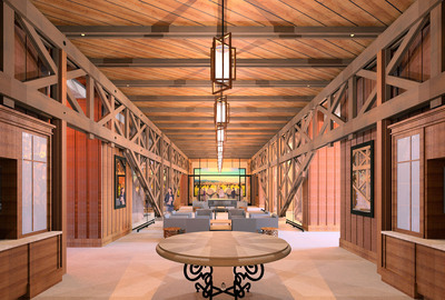 Joseph Phelps Vineyards Gallery Hall. BCV Architects artistic rendering, subject to change.  (PRNewsFoto/Joseph Phelps Vineyards)
