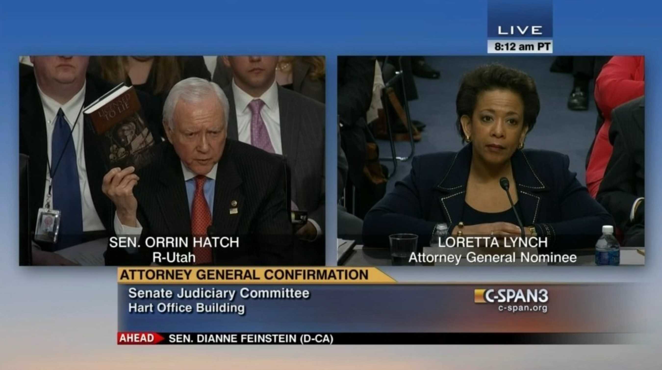 "Senator Orrin Hatch to Loretta Lynch:  ""Clean Up DOJ"" and Read Licensed to Lie by Sidney Powell"