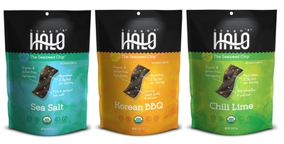 Ocean's Halo Organic Seaweed Chips - - Sea Salt, Korean BBQ and Chili Lime