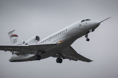 Falcon 8X completed its first flight on February 6, 2015