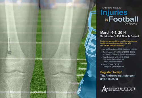 Andrews Institute Injuries in Football Conference 2014 to be held March 6-8 in Sandestin, Fla. (PRNewsFoto/Andrews Institute for Orthopaedics & Sports Medicine) (PRNewsFoto/ANDREWS INSTITUTE FOR ORTHO...)