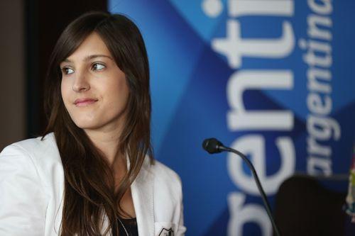 Tiffany Calligaris, at the press conference in Frankfurt last Thursday. (PRNewsFoto/Comunicacion Iberoamericana)