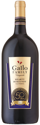 Gallo Family Vineyards Celebrates 50th Anniversary of its Hearty Burgundy Wine.  (PRNewsFoto/Gallo Family Vineyards)