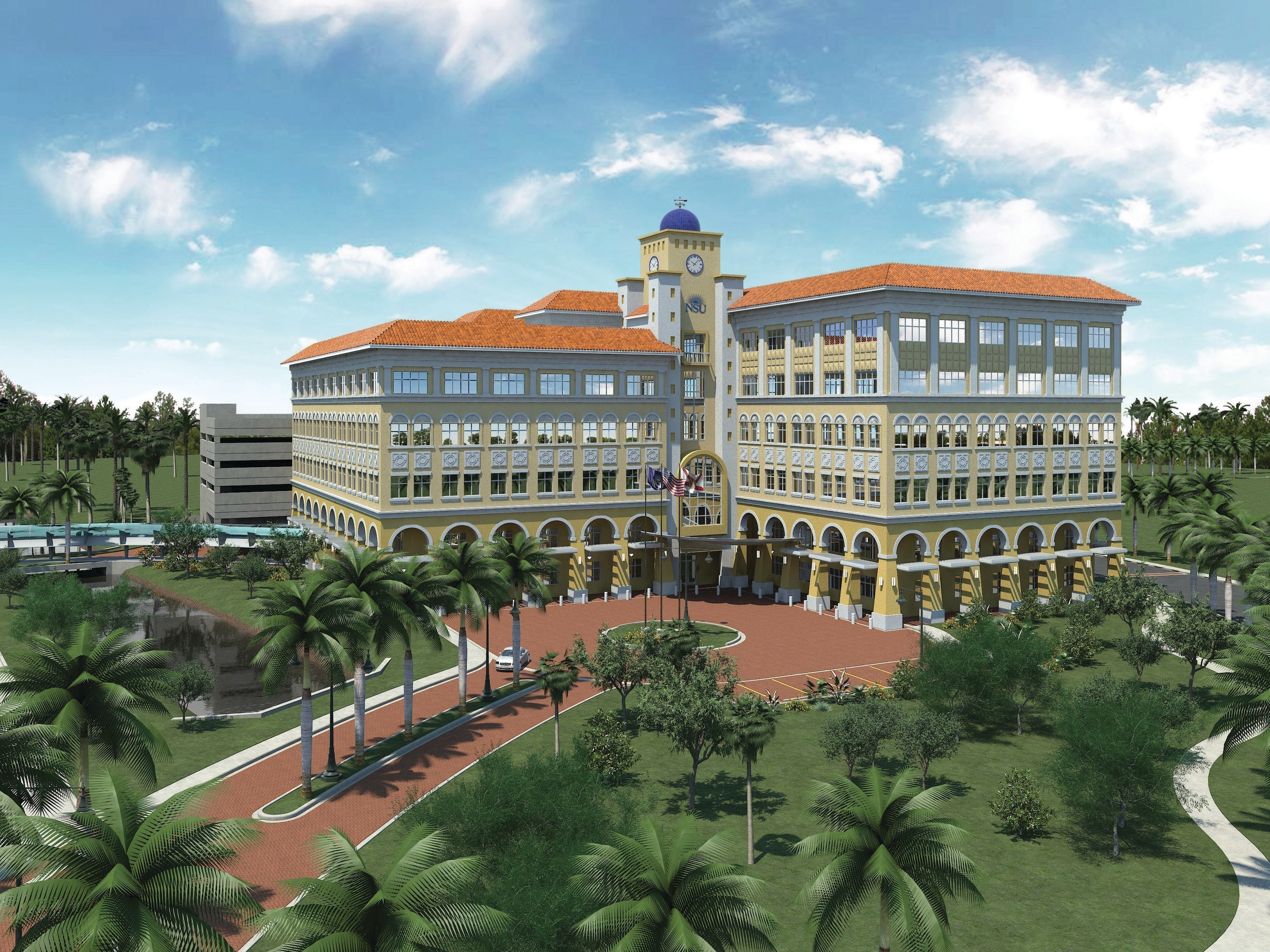 The NSU Cell Therapy Institute will be located in Nova Southeastern University's soon-to-be-completed Center for Collaborative Research (credit: Nova Southeastern University)