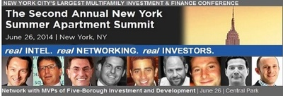 The Second Annual New York Summer Apartment Summit, part of The National Multifamily Investment Series, produced by CRE, will bring together all of NY's multifamily executives under one roof, including 400+ commercial real estate investors, debt sources, equity sources, developers and service providers who seek new opportunities and new business relationships. (PRNewsFoto/CAPRATE Events, LLC)