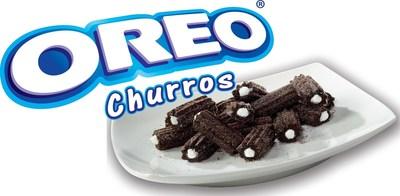 OREO Churros Creme Filled Bites with OREO Churros logo
