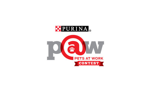 """Purina Pets At Work Contest"" is searching for America's most pet-friendly company! The grand prize winner will receive a pet-friendly workplace makeover valued at $5,000 and a $10,000 donation will be made to a local animal shelter.  (PRNewsFoto/Nestle Purina PetCare)"