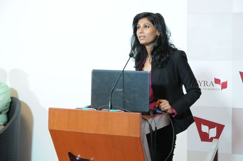 Talk by Harvard Professor Dr. Gita Gopinath at MYRA and inducted into the WAH! (Women Achieversâeuro(TM) Hall of fame) (PRNewsFoto/MYRA School of Business)