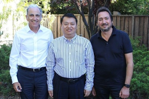 Marc Berrebi/eDevice, M. Liu/iHealth - Andon Group and Stephane Schinazi/eDevice (PRNewsFoto/iHealth and eDevice)