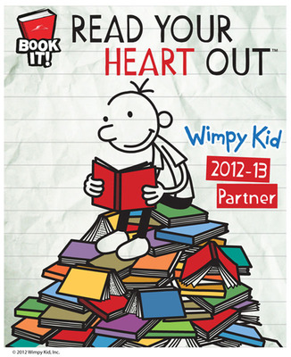 Diary of a Wimpy Kid will be integrated into all classroom materials, teacher printables and web creative for the iconic BOOK IT! Reading Program.  (PRNewsFoto/Pizza Hut)