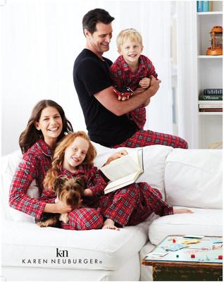 Karen Neuburger plaid pajamas for the whole family