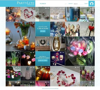 PartyLite´s new home decor platform www.we-deco.com already counts more than 14,000 users after one week (PRNewsFoto/PartyLite)