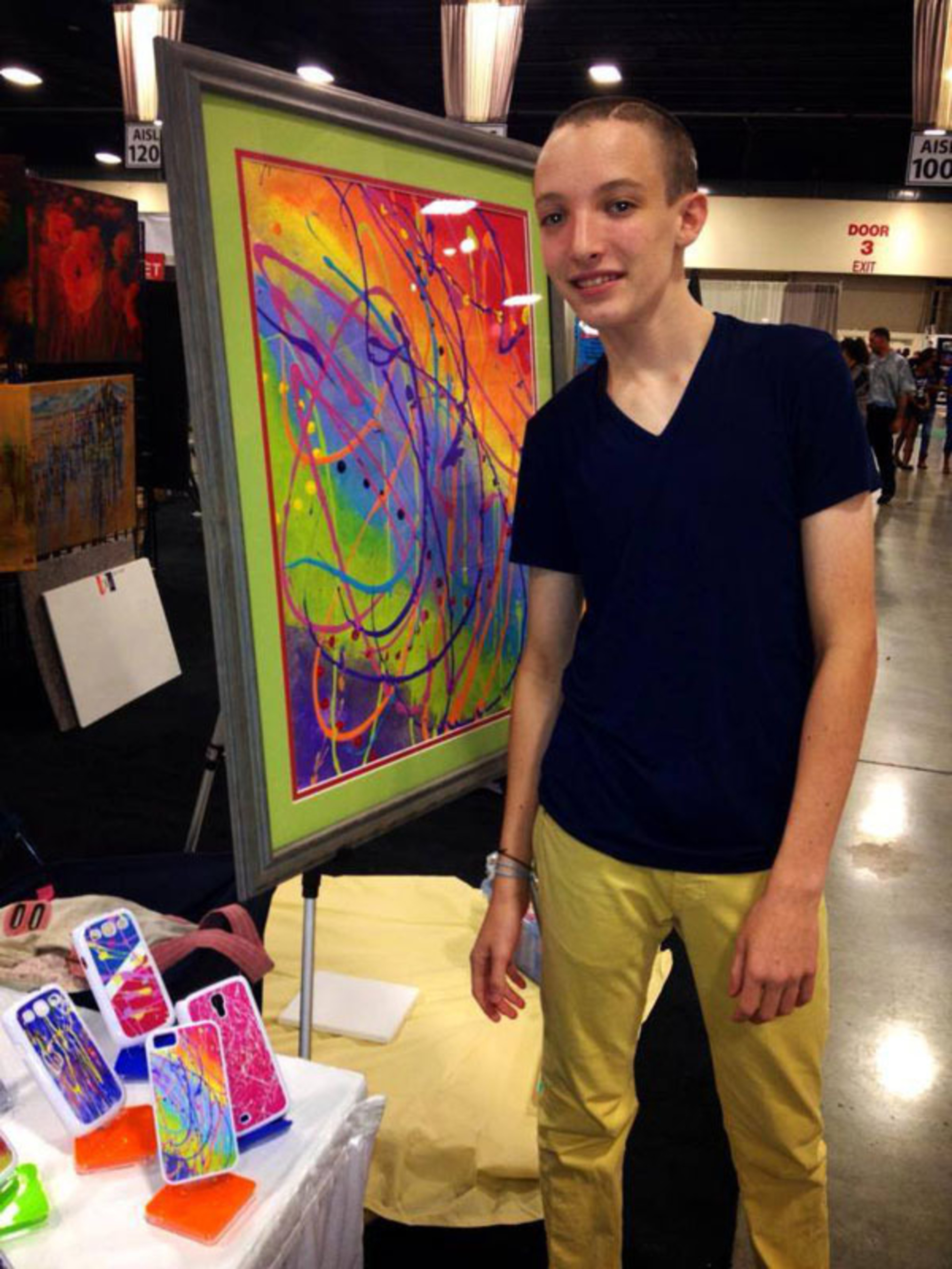 Jared's Paintings - Dystonia.  (PRNewsFoto/zzPrint)