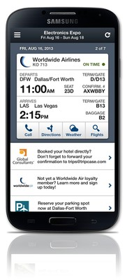 TripCase Corporate is the travel industry's first set of integrated corporate features on mobile.
