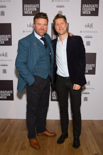 Christopher Bailey Chief Creative and Chief Executive Officer of Burberry with Mark Newton-Jones Chairman of the Graduate Fashion Week charity (PRNewsFoto/Graduate Fashion Week) (PRNewsFoto/Graduate Fashion Week)