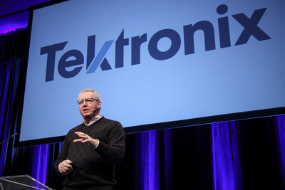 Tektronix president, Pat Byrne, unveils the new logo to employees, marking the most significant change in its visual identity in 24 years. Founded in 1946, Tektronix is one of the most iconic companies in the electronics industry.  On the eve of the company's 70th anniversary, the refreshed logo pays homage to this heritage while pointing the way toward the next phase of the company's evolution, one focused on accelerating the realization of innovative, world-changing technologies.