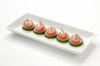 Lobster Canapes made in minutes using Clearwater Formed Lobster Meat Portions Blended with Wild Cod.