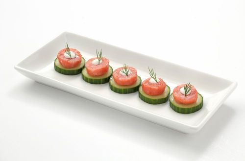 Lobster Canapes made in minutes using Clearwater Formed Lobster Meat Portions Blended with Wild Cod. ...