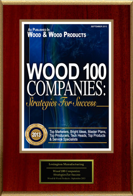 """Lexington Manufacturing Selected For """"Wood 100 Companies: Strategies For Success"""". (PRNewsFoto/Lexington Manufacturing) (PRNewsFoto/LEXINGTON MANUFACTURING)"""
