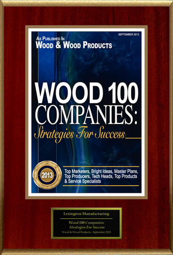 "Lexington Manufacturing Selected For ""Wood 100 Companies: Strategies For Success"". (PRNewsFoto/Lexington Manufacturing) (PRNewsFoto/LEXINGTON MANUFACTURING)"