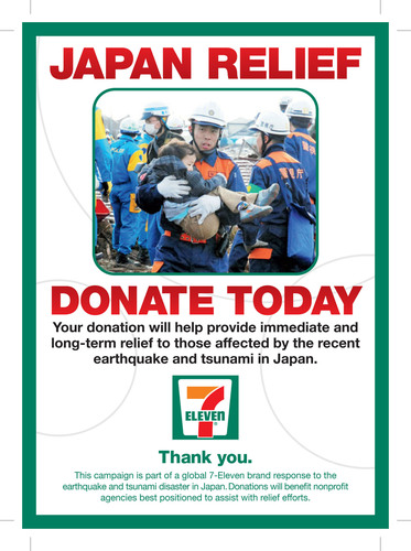 7-Eleven Chain Launches Global Campaign for Japan Disaster Relief