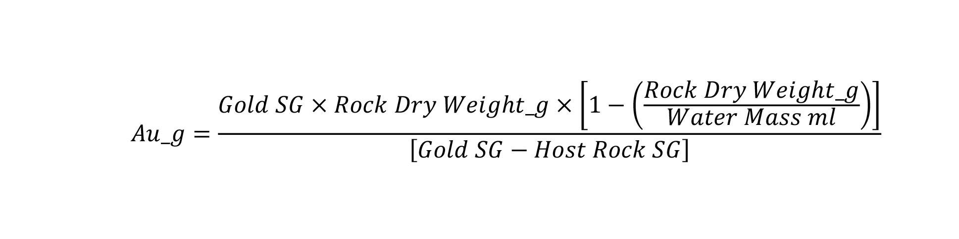 Figure 3: Specific gravity calculation method. (CNW Group/RNC Minerals)