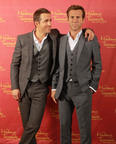 Ryan Reynolds side by side with figure. (PRNewsFoto/Madame Tussauds Hollywood)