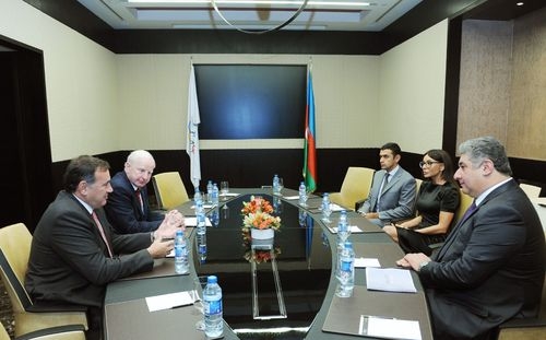 AZERBAIJAN WELCOMES EUROPEAN OLYMPIC COMMITTEE'S COORDINATION COMMISSION TO BAKU AS MEDIA GET FIRST LOOK AT ICONIC VENUES FOR HISTORIC FIRST EUROPEAN GAMES IN 2015 (PRNewsFoto/The Baku 2015 European Games)