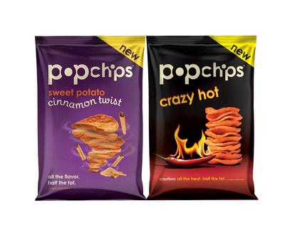 popchips Crazy Hot Potato and Cinnamon Twist Sweet Potato