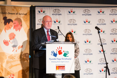 Dr. David Poplack Adresses the Celebration of Life Gala After Receiving the Hyundai Hope On Wheels Hero of Hope Lifetime Achievement Award for Pediatric Cancer Research