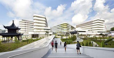 The new SUTD demonstrates Ben van Berkel / UNStudio's approach to New Campus design. Photos: (c) Hufton+Crow (PRNewsFoto/UNStudio)