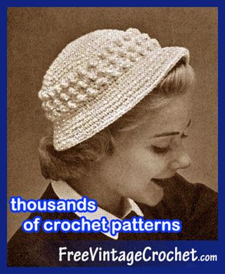 Crochet Patterns Website Free Vintage Crochet is Celebrating its 8th Anniversary.  (PRNewsFoto/Free Vintage Crochet)