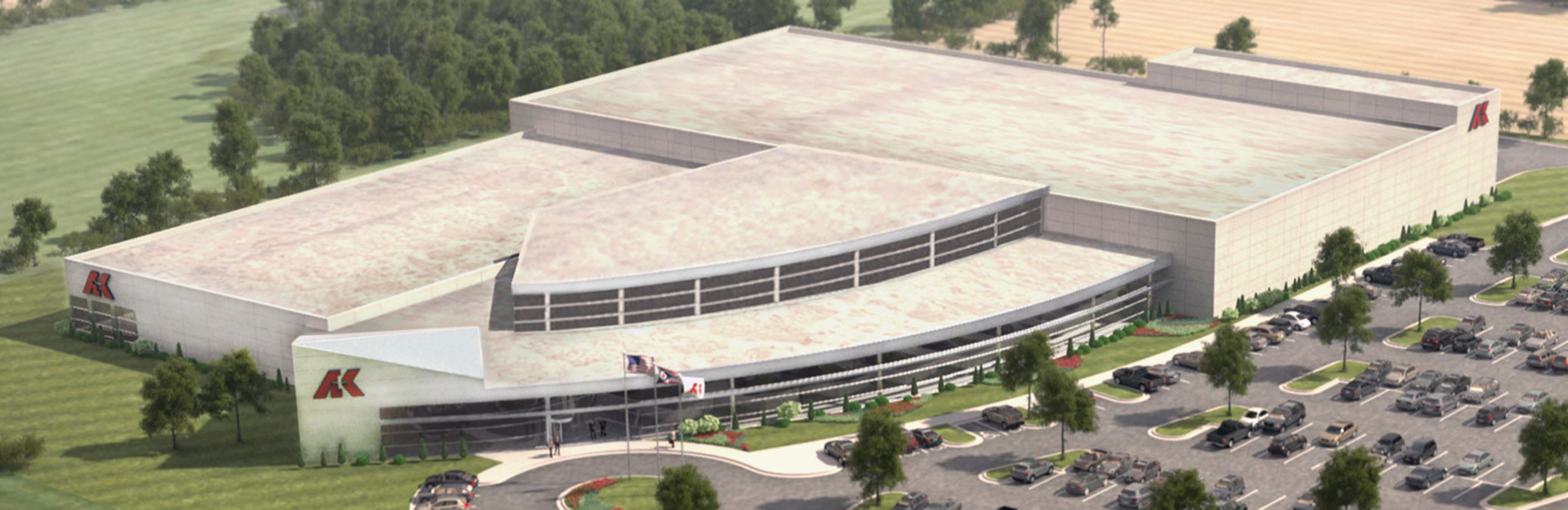 Rendering of AK Steel's new Research and Innovation Center to be built in Middletown, Ohio.