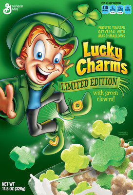 "Beginning St. Patrick's Day, grown-up fans of Lucky Charms(R), the cereal that has appealed to kids and adults for nearly five decades, can experience the ""Chase for the Charms"" like never before for a chance to enter to win $10,000 in gold!   (PRNewsFoto/General Mills)"