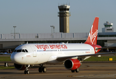 VIRGIN AMERICA LANDS LOVE: AIRLINE BRINGS NEW BUSINESS-FRIENDLY FLIGHTS TO DALLAS' LOVE FIELD (PRNewsFoto/Virgin America)