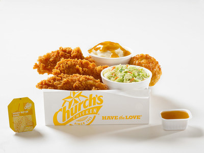 All-white-meat Tender Strips(R) dipped in Church's(R) famous Honey-Butter Biscuit batter and fried to a delicious golden brown. Honey-Butter Biscuit Tenders are available for a limited time only at participating locations.