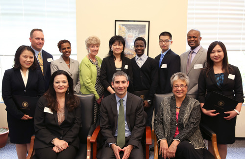 Bunker Hill Community College and Department of Revenue partnership leadership group. (PRNewsFoto/Bunker Hill ...