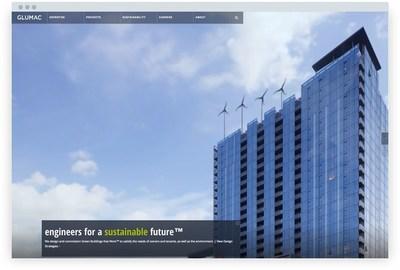Home page image of new website at glumac.com