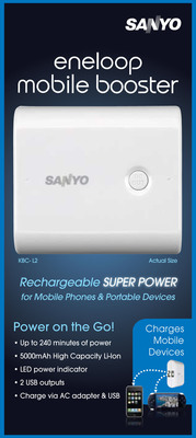 SANYO Portable Power Supply 'Eneloop Mobile Booster' Charges on the Go