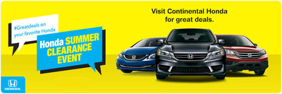 Continental Honda is happy to assist drivers interested in the incentives offered through the Honda Summer Clearance Event. (PRNewsFoto/Continental Honda)