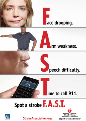 Learn how to spot a stroke FAST (PRNewsFoto/The Ad Council)